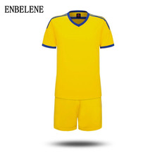 2017 Top Limited Children Football Jerseys Clothing Set For Customize Own Name Number Spandex Big Kids Soccer Uniforms FH484(China)