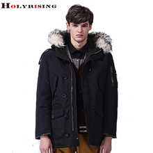 fashion winter jacket men thinken coats fur collar mens down coat warm doudoune homme hiver marque 4 colours m-4xl Holyrising