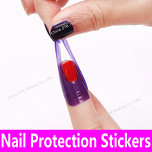 10stickers 1sheet Nail Protection Decals Nail Protector Sticker Pro Manicure Finger Nail Art Tools Tips Cover Polish Shield Skin