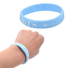 Lychee  Hot Kpop Star BTS Silicone Wristband BTS Fan Support Rubber Bracelet Jewelry