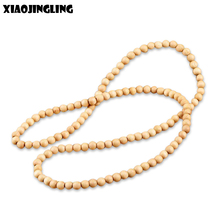 Buy XIAOJINGLING 20 Styles 90cm Chain Wood Beads Long Necklace Wood Boat Anchor Pendant Necklaces Fashion Men Jewelry DIY Necklace for $2.00 in AliExpress store