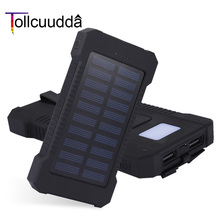 Tollcuudda Waterproof Power Bank 10000mAh External Battery Best Qualit Portable Charger Powerbank Solar Charger For All Phones