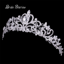 Tiaras and Crowns Wedding Hair Accessories Tiara Bridal Crown Wedding Tiaras for Brides Hair Ornaments(China)