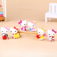 Fashion Cute Baby KT Cat Kids Toys for Girls Birthday Christmas Gift Cartoon DIY Hello Kitty Doll model Toy Figures