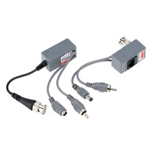 Yumiki CCTV Camera Audio Video Power Balun Transceiver BNC UTP RJ45 with Audio Video and Power over CAT5/5E/6 Cable