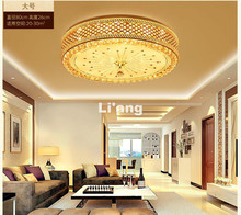 Free Shipping Newly Modern Golden LED K9 Crystal Lighting Ceiling Lamp D50cm Modern Light Bedroom Lamp Staircase Ceiling Light