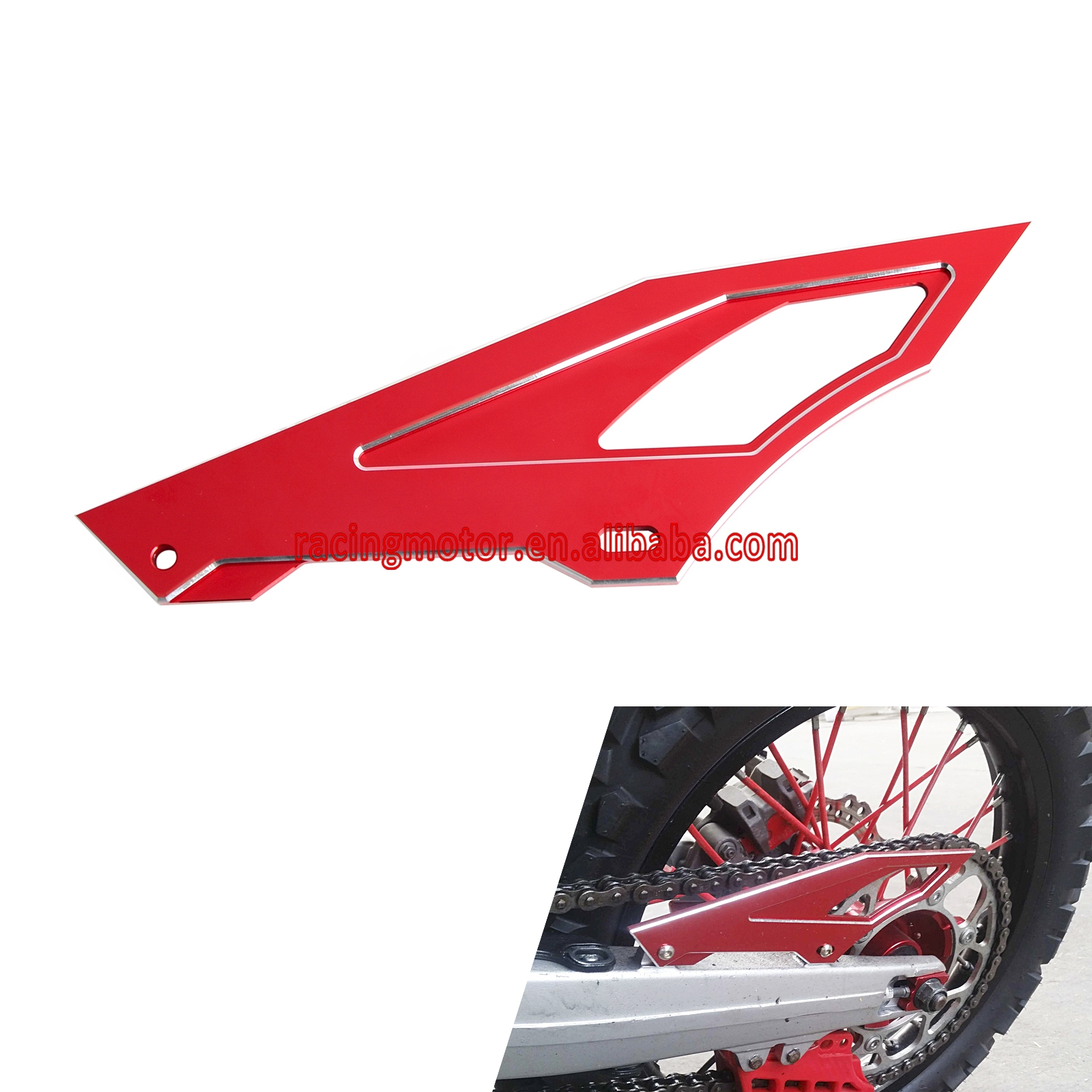 Aluminum Chain Cover Guard For Honda CRF 250L CRF250M 2012-2015 XR250 Baja 1995-Up Yamaha Serow225 TW200 TW225<br>