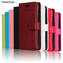 Luxury Cell Phone Book Style PU Leather Pouch Wallet Bag with Card Holder Cover Case for Samsung Galaxy On7 G6000 Phone Case(China)