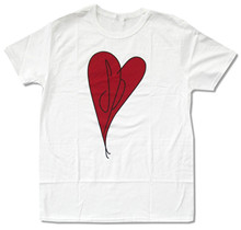 SMASHING PUMPKINS RED HEART IMAGE WHITE T-SHIRT NEW OFFICIAL BAND MUSIC ADULT latest t shirt fashion