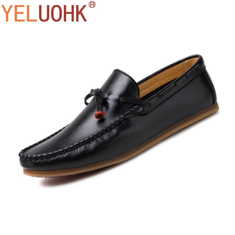 Soft Leather Shoes Men Loafers Slip On Moccasins Men Shoes Casual Men Driving Shoes Comfortable <br>