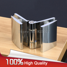"2PCS H59 Brass Glass to Glass Open Inside Hinge for 8-12mm 3/8""-1/2"" Thickness Glass Polished Chrome Shower Door Hinge JF1214(China)"