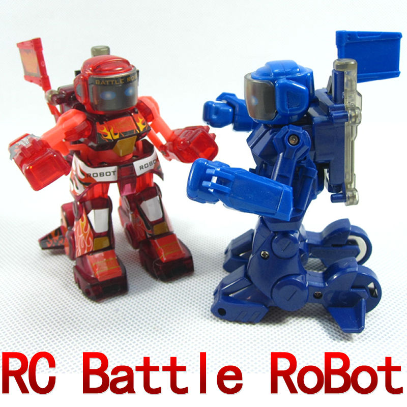 Free shipping 2pcs/lot Remote Radio Control Battle Fighting RC Robot novelty Toys Gifts new technique  FSWB<br><br>Aliexpress