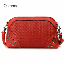 Osmond Women Shoulder Bag Rivet Female Handbag Zipper Casual High Imitation Leather Small Ladies Messenger Crossbody SummerBag