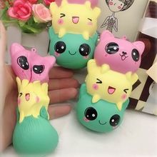 Fashion Cute Squishy Cat Slow Rising Kawaii Cartoon Bread Soft Fun Toy New Lovely Muti-color Stress Reliver Toys