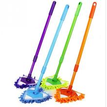 Multifunctional Mini Mop Scalable Dust Floor Cleaning Mop Car Kitchen Livingroom Cleaning Duster Tools 180 Degree Rotatable Mops(China)