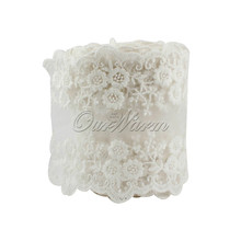 OurWarm 1M Cotton Lace Ribbon Embroidered Net White Lace Trim for Wedding Party Decoration Sewing Clothing Bride Accessories(China)