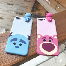 New Cartoon Dolls Soft TPU Silicone Back Covers For fundas iPhone 7 7plus 6 6S Plus Animals Phone Cases Couples Capinhas Shell