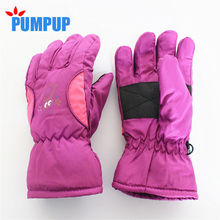 2017 Winter Children Ski Snowboard Gloves Waterproof Windproof Thermal Snow Mittens Boys Girls Kids Sports Mittens Whole Sale