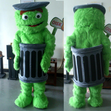ohlees  Customized Sesame Street Oscar The Grouch Mascot Costume Adult Character Cartoon Costume Fancy Dress