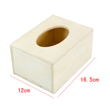 Wooden Tissue Box Cover Case Home Decoration Creative Napkin Holder for Paper Towels Wood DIY Hot Sale