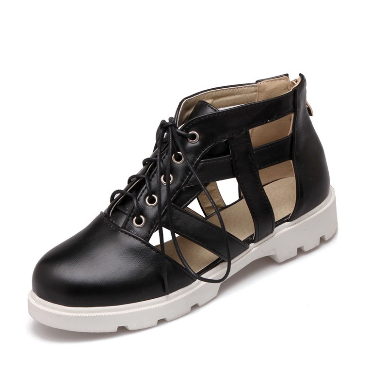 New 2017 Spring Summer Women Boots Rome Style Fashion Womans cut-outs Breathable Shoes Womens Single Shoe Casual Shoes<br><br>Aliexpress