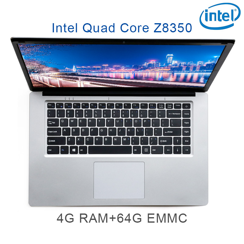 "P2-02 silver 4G RAM 64G EMMC Intel Atom Z8350 15.6"" laptop notebook keyboard and OS language available for choose"