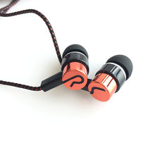 Hot Sale Stereo Noise Cancelling Earphone Reflective Fiber Cloth Line Headset Portable Headphone for Mobile Phone MP3(China)