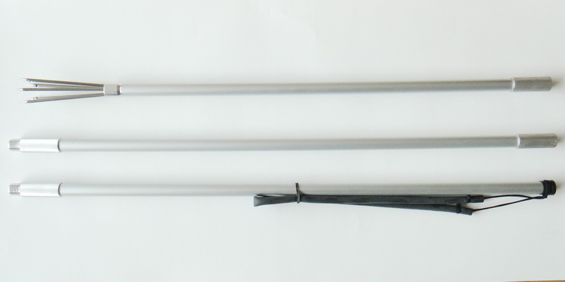 2 METER 3 PIECES ALUMINIUM ANODIZED 5 PRONGS HARPOON HAND SPEAR<br>