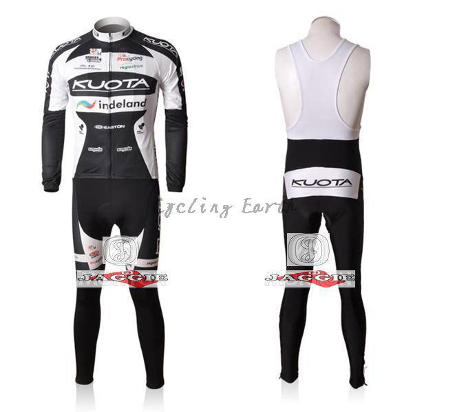3D Silicone! KUOTA 2010 bib long sleeve cycling jerseys wear clothes bicycle/bike/riding jerseys+bib pants<br>