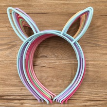 Spring Colors For Baby Girls PlasticHeadbands Rubbit Bunny Ears Headbands Fox Ears Head Band Children Accessories 12pcs/lot