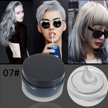 Fashion Hair Styling Pomade Women Men Hair Tool Hair Modeling Temporary Hair Dye Cream Wax Mud Cream
