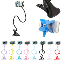 Flexible 360 Degree Smart Phone Accessories Clip Cellphone Lazy Bed Desktop Bracket Mount Stand Holder + Tracking Number