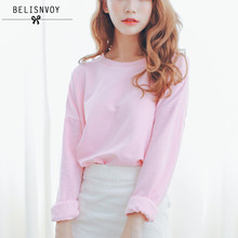 College Wind Fashion 2017 Autumn New Women T Shirt Casual Loose Cotton Candy-colored Bat Sleeve Short T-shirt Female Tops Tees(China)