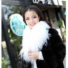 Super thick plenty and great long fashion lamb fur/mongolian fur/beach wool collar scarf black L#54