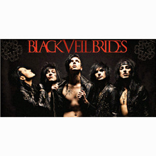 Custom 70x140cm Bath Towel Black Veil Brides Large Soft Absorbent Bamboo Fiber Sport Swimming Gym Travel Beach Towel
