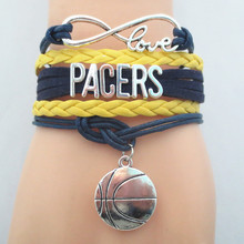 Infinity Love PACER basketball Team Bracelet college Customize sports Wristband friendship Bracelets B09564