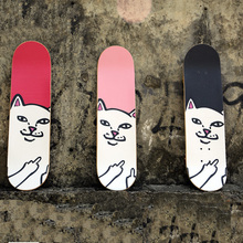 22 Inches Long Cute Cats Skateboarding Deck Skateboard Griptape Anti-skid Skate Board Rough Sandpaper For Longboard Peny Board(China)
