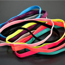 Candy Color Antiskid Rubber Band Non-skip Flat Elastic Hair Band Sports Head Wrap Running Loop Band Fashion Hair Accessories(China)