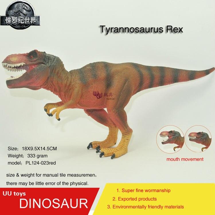 Hot toys figure Red Tyrannosaurus Rex Simulation model Jurassic park dinosaur action figure Souptoys  new genuine<br><br>Aliexpress