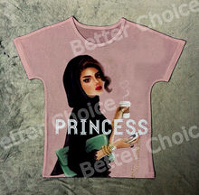 Track Ship+New Fresh Summer Hot T-shirt Top Tee Scraf Princess Lady Enjoy a Hot Coco Drink with Phone and Handbag 1147(Hong Kong)