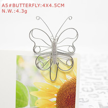 A5 BUTTERFLY PAPER/NOTE CLIP PRACTICAL/NOVELTY/CREATIVE STAINLESS HAND-MADE ART CRAFTS WEDDING&BIRTHDAY&HOME&OFFICE&GIFT&PRESENT(China)