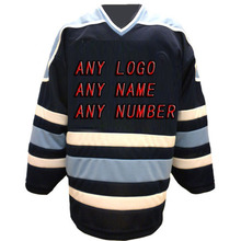 Custom Factory Hockey Jerseys OEM Maine Black/White Embroidery Mens Supplier Tackle Twill USA CANADA Australia Free Shiping
