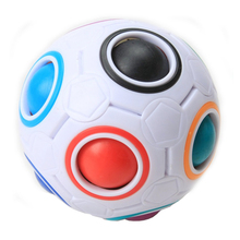 Magic Rainbow Ball Creative Spherical Magic Cube Rainbow Puzzles Kids Educational Toys for Children Magic Cube puzzle magic ball(China)