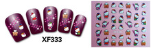 Mix Order: $0.7 XF333 Free Shipping Brand 3D Design Tip Nail Art Hello Kitty Nail Stickers Decals Carving Nail Art Decorations