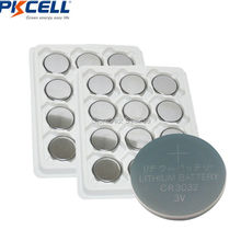 18Pcs PKCELL 3V CR3032 Lithium Battery BR3032 DL3032 Button Cell Batteries(China)
