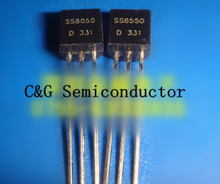 100pcs (SS8050 50PCS +SS8550 50PCS) TRANSISTOR NPN PNP TO-92(China)