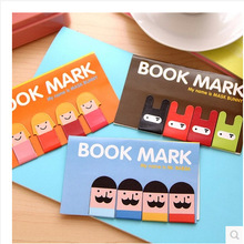 Girl / Mustache / Ninja Bunny Magnetic Bookmark , cute cartoon magnet book page mark(China)