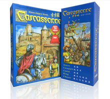 English carcassonne basic, 6 expansion the river/tower/catapult/count/king/chaser board game card game english party game
