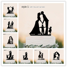 Family Style Cake Topper Personalized Classic Couple Wedding Party / Birthday Party / Anniversary/ Bridal Shower Decorations