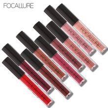 FOCALLURE Waterproof Matte Liquid Lipstick Moisturizer Smooth Lip Stick Long Lasting Lip Gloss Cosmetic Beauty Makeup(China)